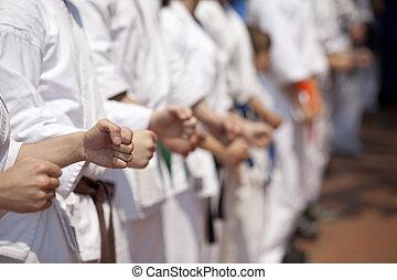 force - Karate training