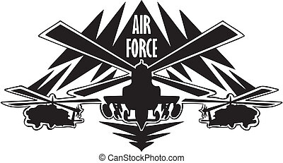 force, -, nous, air, militaire, design.