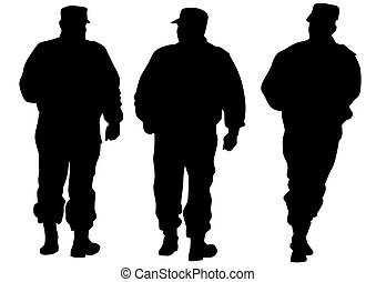 Force on white background - People of special police force ...