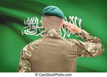 forces, série, national, -, conceptuel, drapeau, saoudien, ...