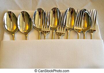forchetta, #3, cucchiaio, &
