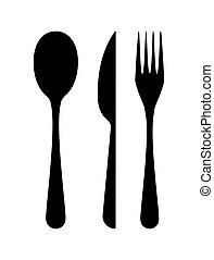 forchetta, cucchiaio, coltello, -, coltelleria