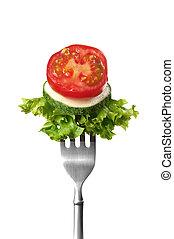 forchetta, insalata