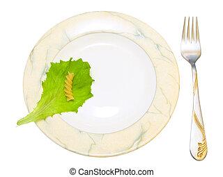 forchetta, piastra, isolato