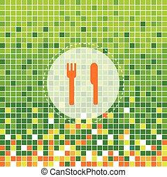 forchetta, simbolo, coltello