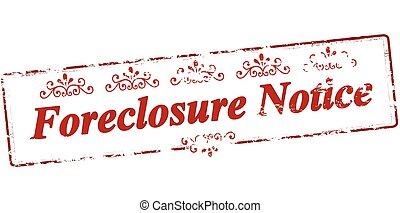 forclosure, aviso