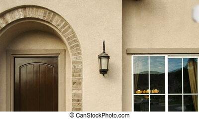 forclusion, maison, signe vente, panoramique, maison