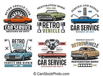 fordítás, szolgáltatás, autó, jármű, restaurálás, retro