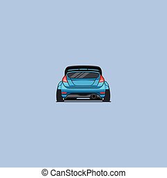 Ford Fiesta RS 2015 Blue Vector. Ford Fiesta RS 2015 WRC....
