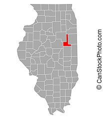 ford, mapa de illinois