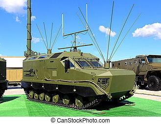 fordon, militär, antenner