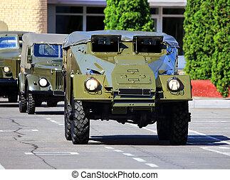 fordon, pansrad, transport