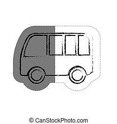 fordon, skåpbil, ikon
