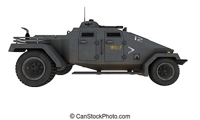 fordon, stridande, pansrad