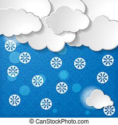 foreca, neige, ou, fond, noël