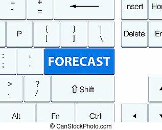 Forecast blue keyboard button