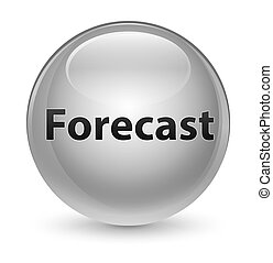 Forecast glassy white round button