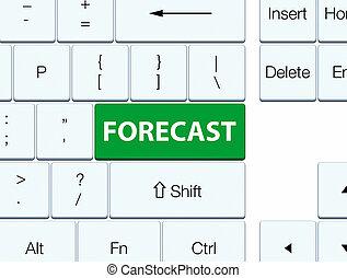 Forecast green keyboard button