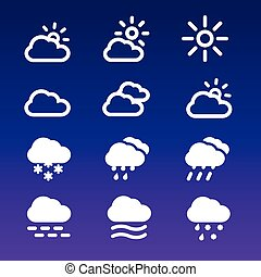 Forecast Icons Set