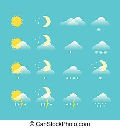 Forecast weather icons vector set