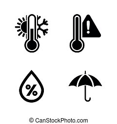 Forecast Weather. Simple Related Vector Icons Set for Video...