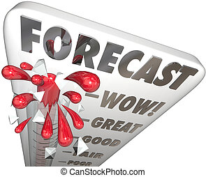Forecast Word Thermometer Future Finance Budget Earnings Great E