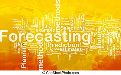 Background concept wordcloud illustration of forecasting international
