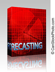 Forecasting budgeting illustration box package - Software...