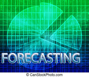 Forecasting budgeting illustration - Illustration of...