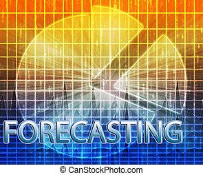 Forecasting budgeting illustration