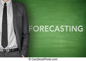 Forecasting concept on blackboard