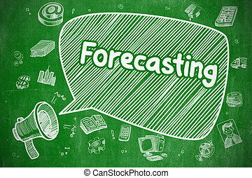 Forecasting - Doodle Illustration on Green Chalkboard.