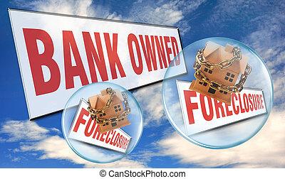 foreclosure., 銀行
