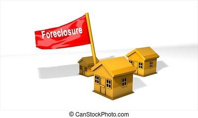 Foreclosure - Conceptual animation foreclosure crisis, alpha...