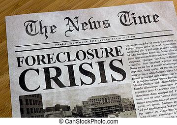 Foreclosure Crisis Headline - Foreclosure crisis on the news...