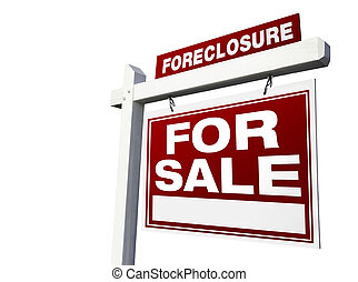 Foreclosure For Sale Real Estate Sign