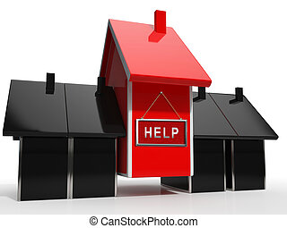 Foreclosure Help Icon Means Assistance To Stop A Property ...