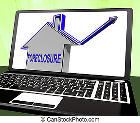 Foreclosure House Laptop Shows Lender Repossessing And...