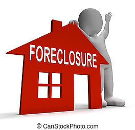 Foreclosure House Shows Repossession And Sale By Lender