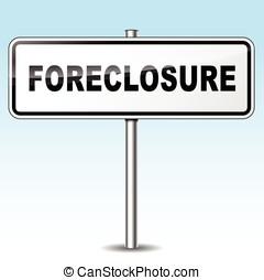foreclosure sign