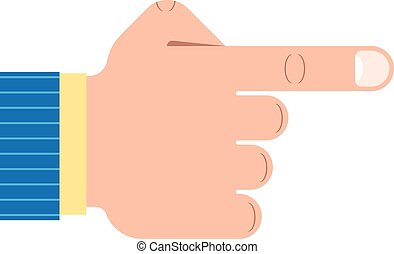 forefinger - Outline illustration of a pointing hand...