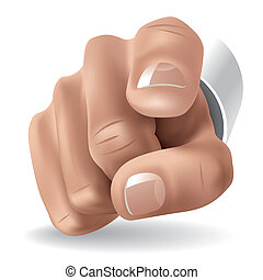 Forefinger - Right hand with forefinger pointing on viewer....