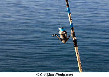 foreground reel a fishing rod