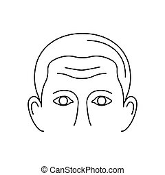 Forehead icon, outline style - Forehead icon. Outline...