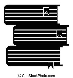 Foreign books icon, simple style