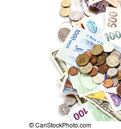 Foreign coins and banknotes - Foreign coins and banknotes....