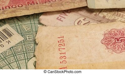 Foreign Currency Notes - Close up of Foreign Currency