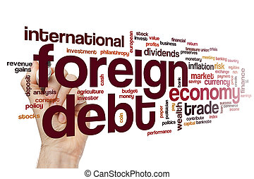 Foreign debt word cloud