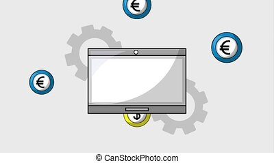 foreign exchange business - tablet rotation coins dollar...