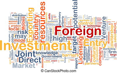 Foreign investment background concept - Background concept ...